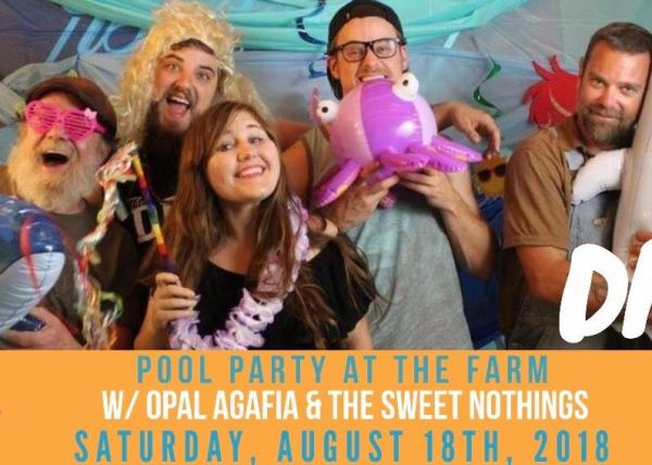 Opal Agafi & The Sweet Nothings Pool Party at the Farm